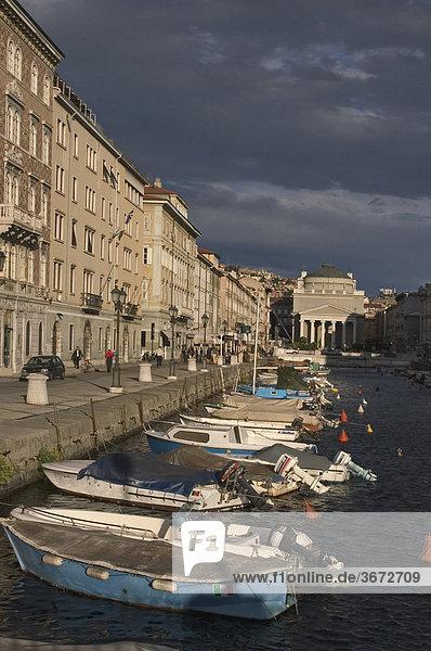Triest Trieste Friuli Venezia Giulia Friaul Julian Venetian Italy at the Canale Grande