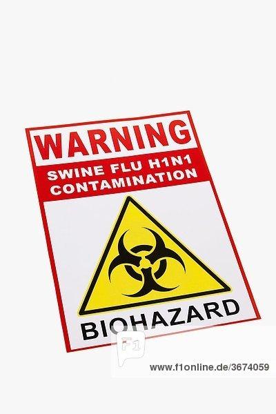 Nahaufnahme ein Biohazard Warnung Zeichen