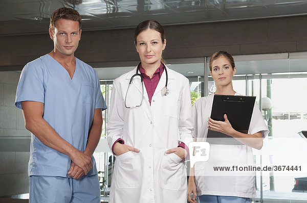 Portrait of a doctor and nurses