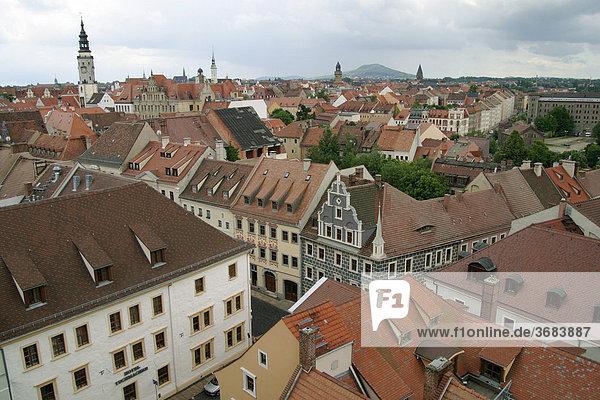Deutschland  Sachsen  Görlitz an der Neisse  Blick von der Peterskirche über die Dächer von Görlitz