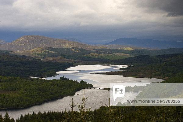 Glen Garry Viewpoint Loch Garry Highlands  Schottland  Großbritannien  Europa