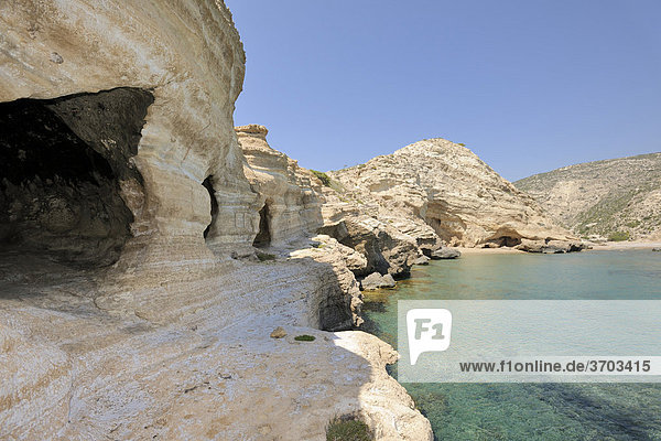 Early Christian cave church  Cape Fourni  Rhodes  Greece  Europe