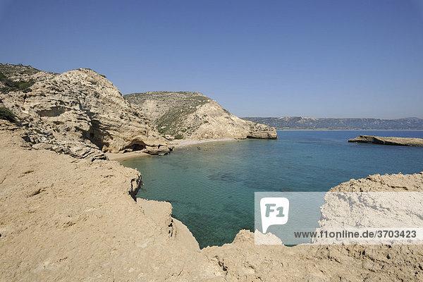 Bay on Cape Fourni  Rhodes  Greece  Europe