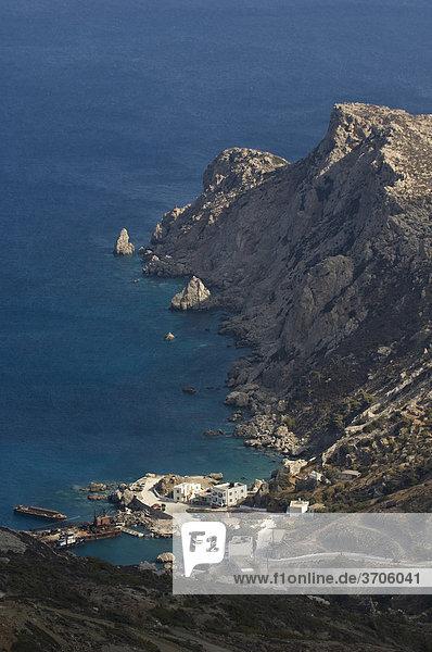Hafen Agios Nikolaos bei Spoa  Insel Karpathos  Ägäische Inseln  Ägäis  Dodekanes  Griechenland  Europa