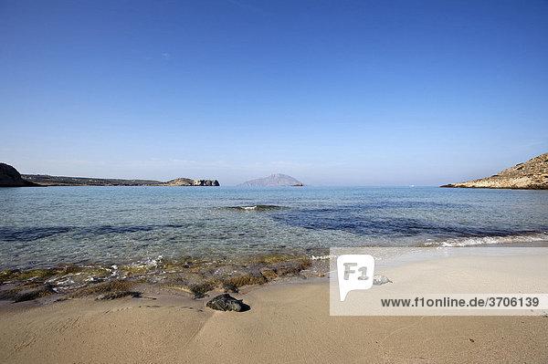 Strand Agios Nikolaos bei Arkassa  Insel Karpathos  Ägäische Inseln  Ägäis  Dodekanes  Griechenland  Europa
