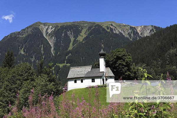Church in Gaschurn,  Montafon,  Vorarlberg,  Austria,  Europe
