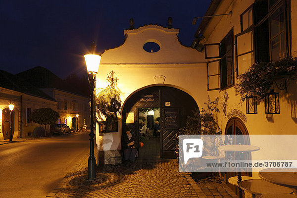 Peter Schandl wine restaurant  Rust on Lake Neusiedl  Burgenland  Austria  Europe