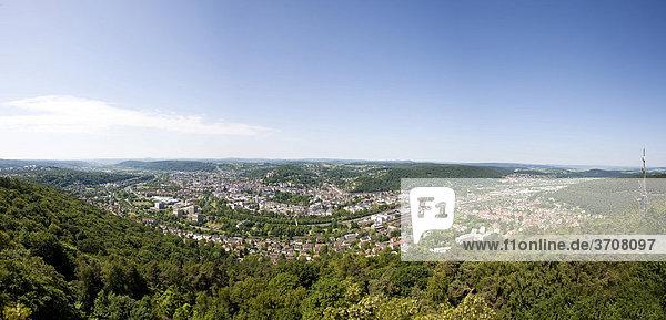 Blick auf Marburg an der Lahn  Hessen  Deutschland  Europa