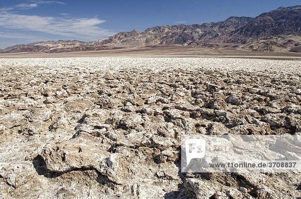 Devil's Golf Course  Death Valley Nationalpark  Kalifornien  USA