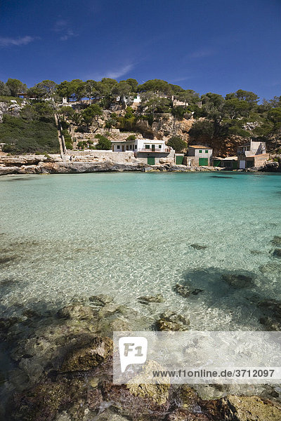 Bucht Cala Llombards  Mallorca  Balearen  Mittelmeer  Spanien  Europa