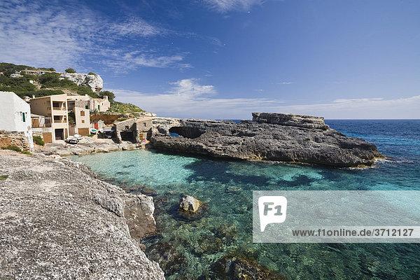 Bucht Cala s'Almonia  Mallorca  Balearen  Mittelmeer  Spanien  Europa