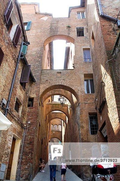 Provenzano Palio time  Siena  Tuscany  Italy