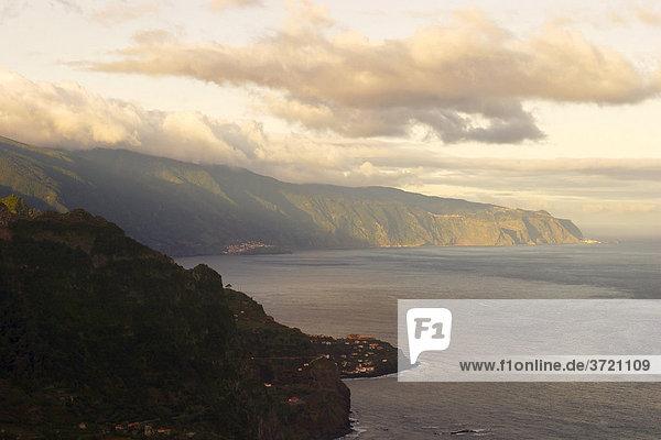 Northern coast Madeira - view from viewpoint Cabanas - Ponta Delgada