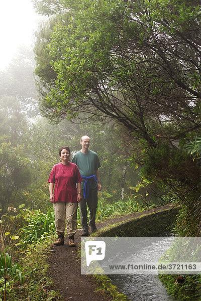 Wanderweg am Bewässerungskanal Levada do Norte - Madeira
