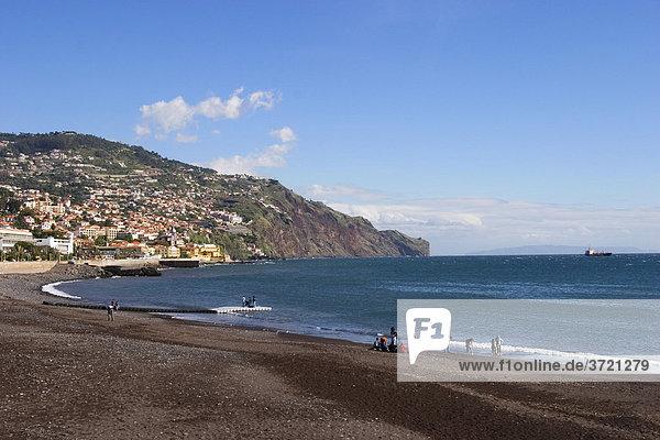 Stadtstrand in Funchal - Madeira