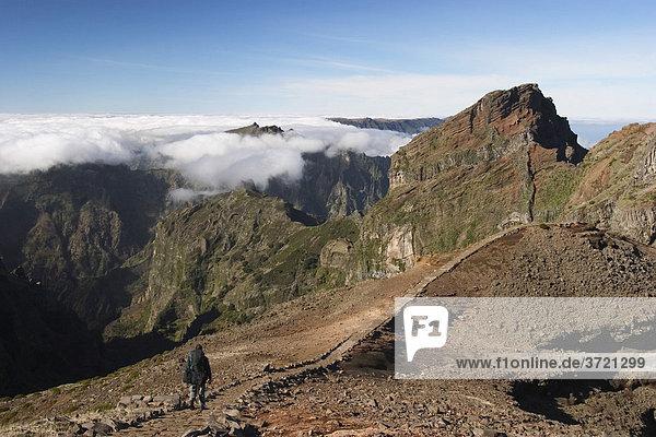 Pico do Gato - Blick vom Pico do Arieiro - Madeira