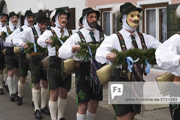 Carnival in Mittenwald - Schellenrührer - Bavaria