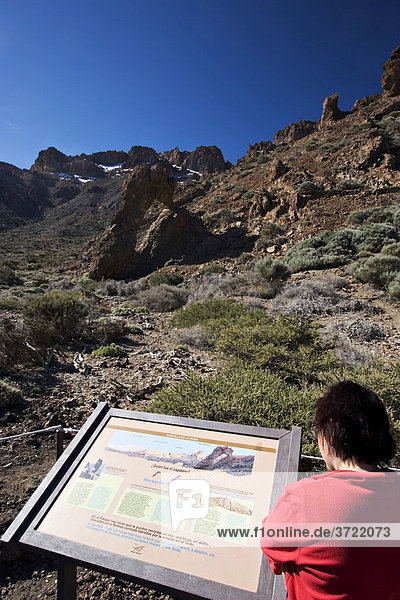 Nationalpark Canadas del Teide mit Zapato de la Reina - Schuh der Königin Teneriffa Kanaren