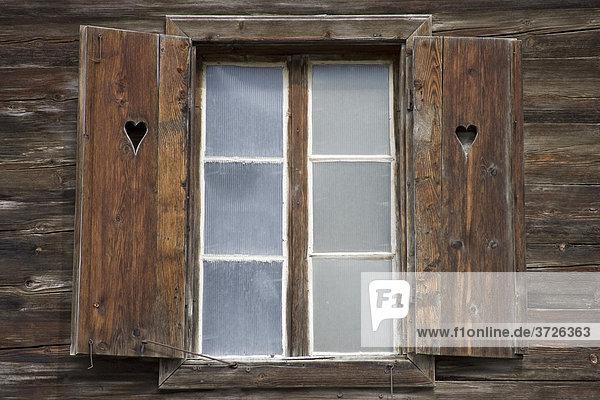 Wooden window  traditionally built  Zillertal  Austria