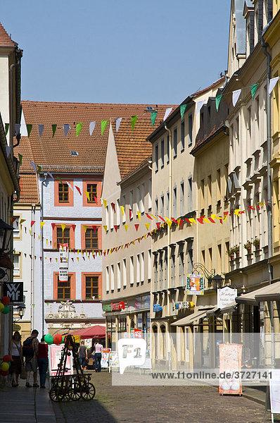 Old town in Pirna  Saxony  Germany