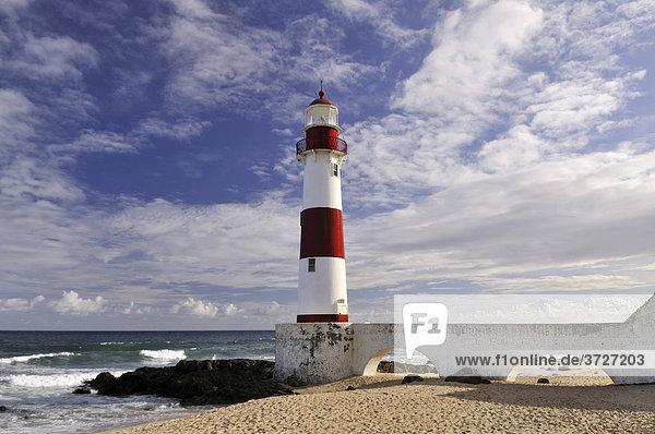 Leuchtturm Farol de Itapua  Salvador  Bahia  Brasilien  Südamerika