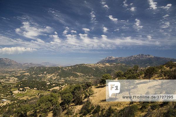 Landscape near Oliena  Barbagia  Nuoro Province  Sardinia  Italy
