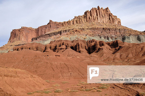 Sandsteinformation The Castle  Wingate Sandstone  Capitol Reef National Park  Utah  USA