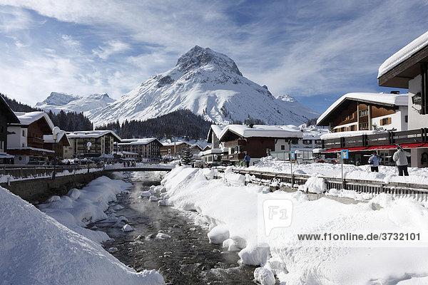 Lech mit Omeshorn  Vorarlberg  Österreich