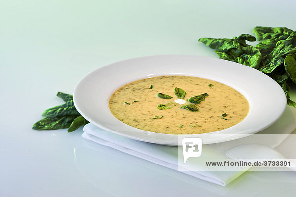 Spinat-Creme-Suppe