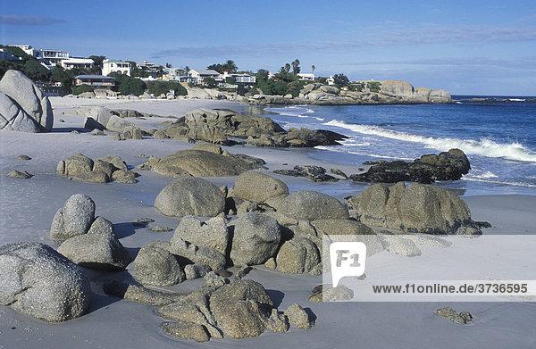 Strand von Clifton  Bungalows  Villen  Meer  Sandstrand  Kapstadt  Südafrika  Afrika