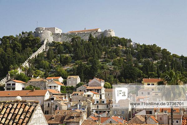 Spanische Festung  Altstadt von Hvar  Insel Hvar  Dalmatien  Kroatien  Europa