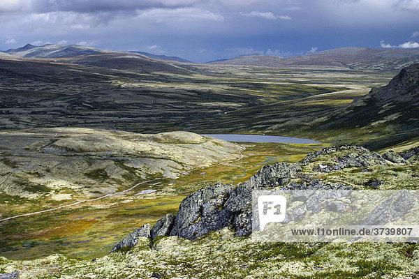 Landschaft im Nationalpark Rondane  Norwegen  Skandinavien  Nordeuropa