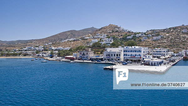 Port mooring on Ios  Cyclades  Greece  Europe