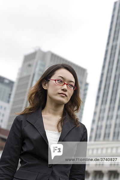 Young business woman  Tokyo  Japan  Asia