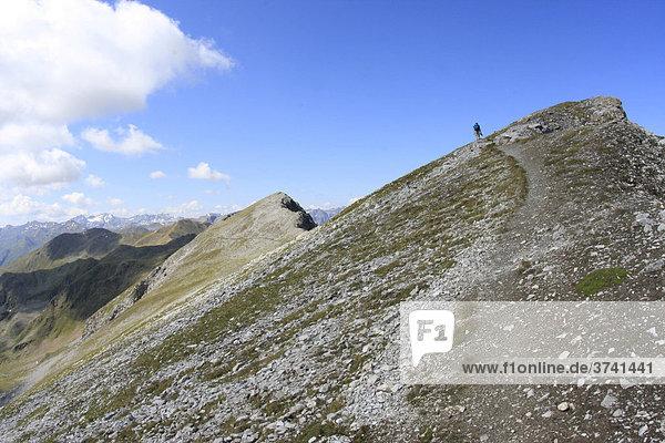 Gipfel des Piz Lat  Alpen  Südtirol  Italien