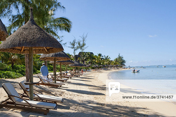 Strand vom Hotel Le Telfair  Bel Ombre  Mauritius