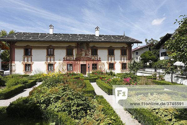 Pilatushaus in Oberammergau  Upper Bavaria  Bavaria  Germany  Europe