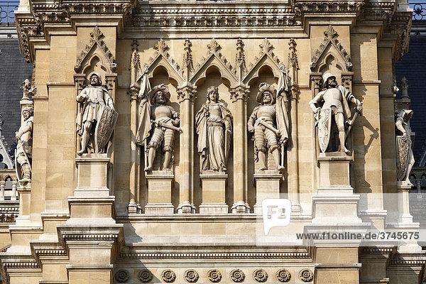 Detail der Fassade Neues Rathaus  Wien  Österreich  Europa