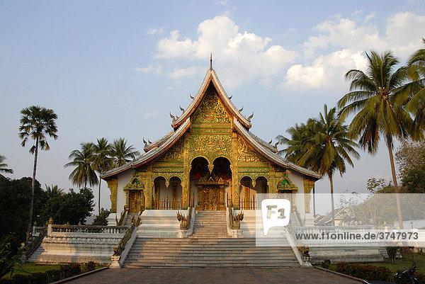 Königlicher buddhistischer Tempel Wat Ho Pha Bang  Luang Prabang  Laos  Südostasien
