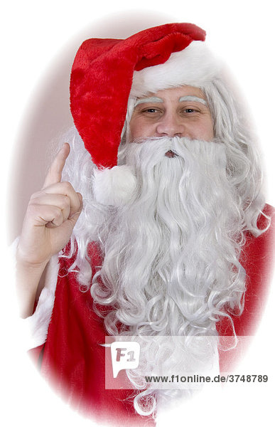 A man dressed as Father Christmas