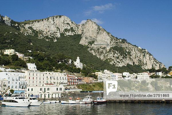 Marina Grande  Island of Capri  Campania  Italy