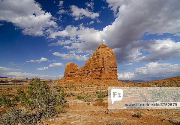 Sandsteinberg im Arches Nationalpark  Utah  USA