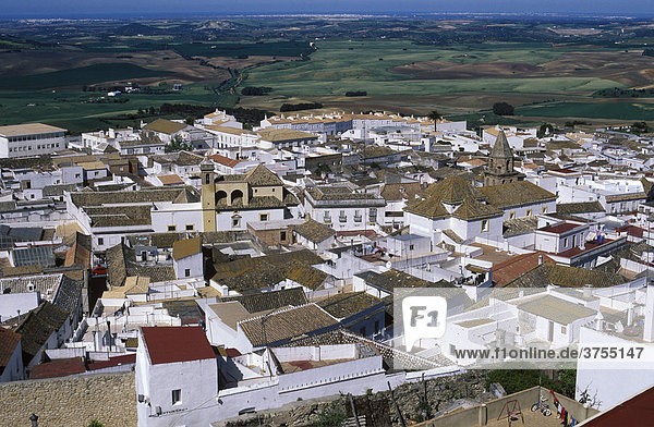 Medina Sidonia  Blick von Burg nach C·diz  Provinz CadÌz  Andalusien  Spanien