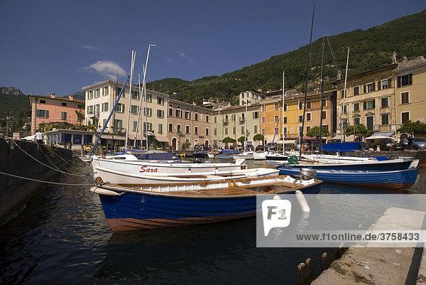 Port of Gargnano  Lake Garda  Italy  Europe