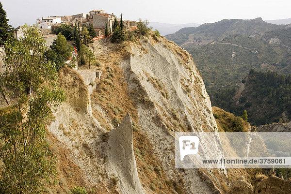 Rough rocky landscape  Basilicata Region  Southern Italy