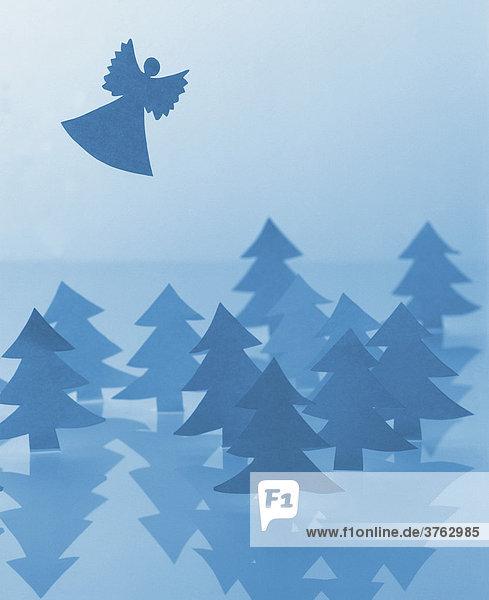 Weihnachtsengel  Illustration
