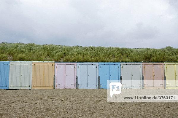 Strand  Dünen  Hütten  Domburg  Zeeland  Holland  Niederlande