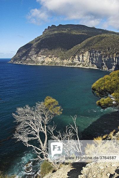 Bucht vor dem Bishop Mountain  Maria Island Nationalpark  Tasmanien  Australien