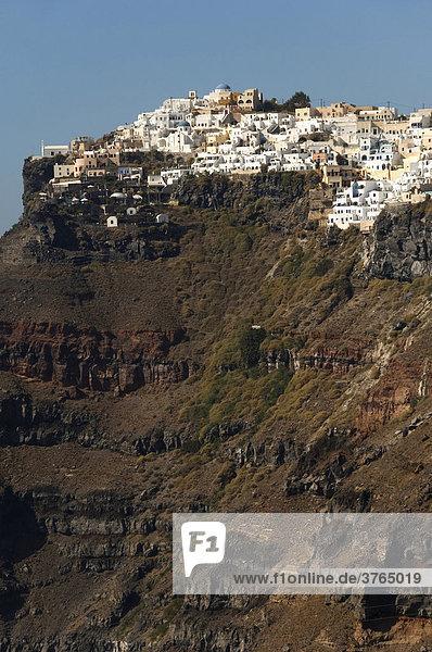 Imerovigli auf den Klippen  Santorin  Kykladen  Ägäis  Griechenland