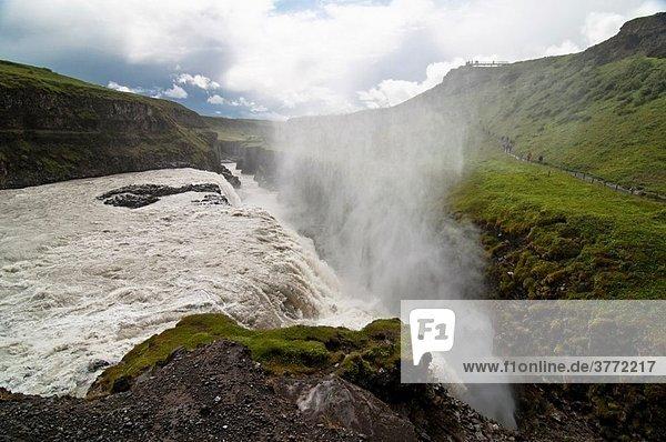 Fluss Wasserfall Entdeckung Gullfoss